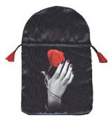 Rose Hand Satin Printed Tarot Bag